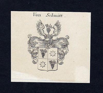 1820 Schmitt Wappen Adel coat of arms heraldry Heraldik Kupferstich engraving
