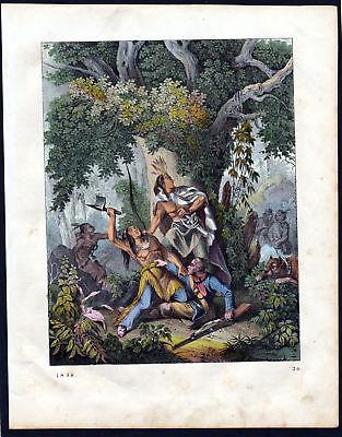 1858 Batalla de Pichincha Ecuador Schlacht battle Lithographie lithograph