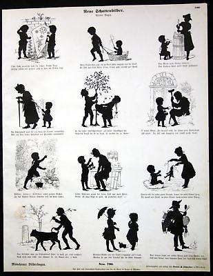 1880 schattenbilder schattenri kinder m nchener - Schattenbilder kinder ...
