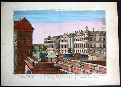 1810 Berlin Guckkastenblatt zograscope Schloss Ansicht Kupferstich antique print 0