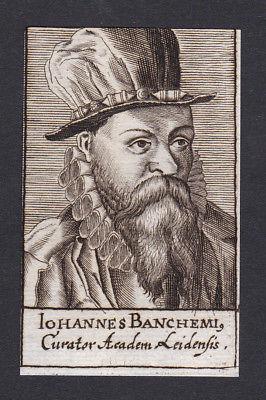 17. Jh. - Johannes Banchemius / Kurator Leiden Portrait Kupferstich