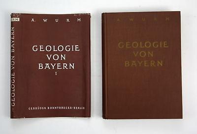 1961 Adolf Wurm Geologie von Bayern Frankenwald Münchberger Gneismasse Auflage 2