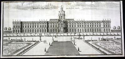 ca 1705 schloss charlottenburg berlin garten kupferstich antique print merian nr 173017787989. Black Bedroom Furniture Sets. Home Design Ideas