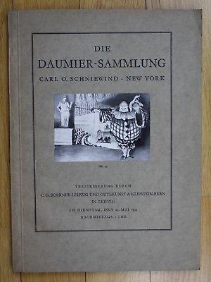 1933 Die Daumer-Sammlung Carl O. Schniewind Auktion Katalog Boemer