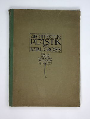 1913 Architektur-Plastik von Karl Gross. Architektur Architekt Kunst Künstler