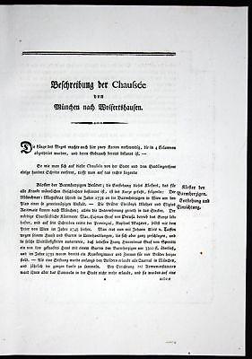 1796 Beschreibung Textblätter München Wolfratshausen Karte Atlas Bayern Riedl
