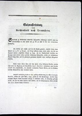 1796 Beschreibung Textblätter Karte Reichenhall Traunstein Atlas Bayern Riedl
