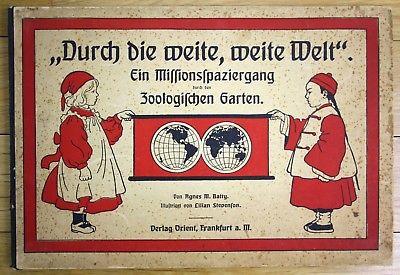 1910 Agnes Batty Lilian Stevenson Durch Weite Welt Zirkus Bilderbuch Kinderbuch
