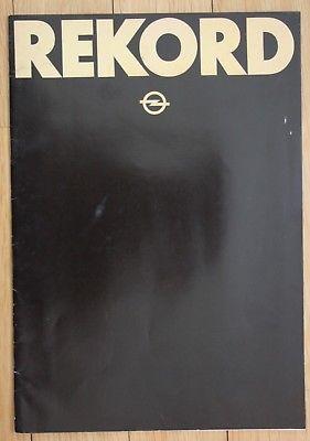 1979 Adam Opel Aktiengesellschaft Rekord Prospekt Reklame Auto Opel Werbung