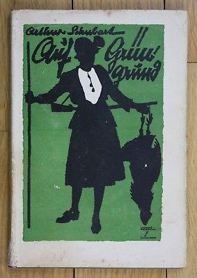 1920 Arthur Schubart Auf Grüngrund Noveletten Jagd Jägerei Jäger Ludwig Hohlwein