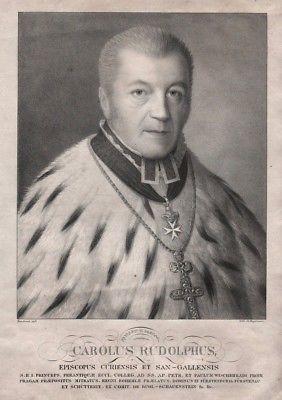 1830 - Karl Rudolf Graf Buol-Schauenstein Chur St. Gallen Portrait Lithographie