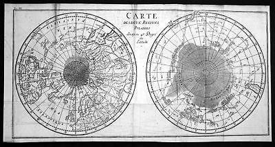 1780 Polar Weltkarte Australia America Karte world map Kupferstich antique print