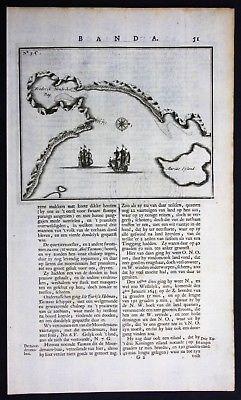 1726 - Tasmania Marion Bay Australia Valentijn engraving map 0