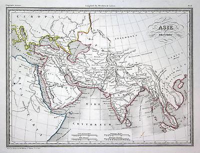 1837 Asien Asia Arabia Arabien Arabie Afrika Africa map Karte carte Kupferstich