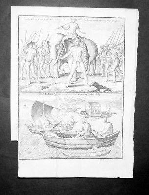 1750 - Kochi India Malabar Elefant engraving Asien