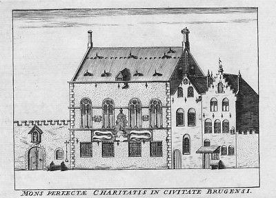 1735 - Brugge Bruges Belgique Kupferstich gravure engraving map carte