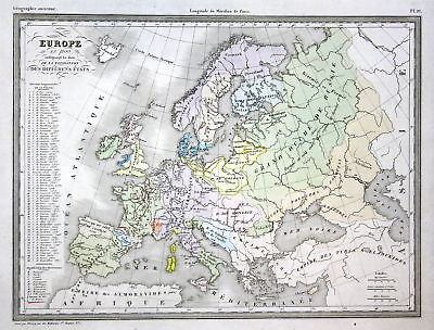 Europe Europa Russland Germany Deutschland Russia Italy Italien map Karte carte