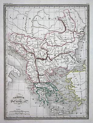 1837 Europa Türkei Europe Turkey Turquie Greece Griechenland map Karte carte