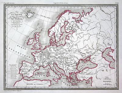 1837 Europa Europe Scandinavia Italy Germany Deutschland Italien map Karte carte
