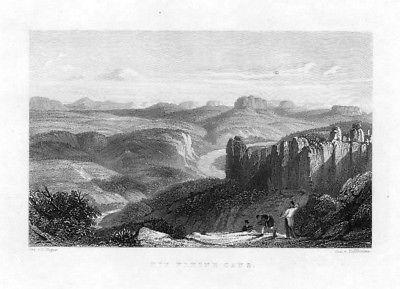 1840 - Die kleine Gans Felsen Rathen Elbsandsteingebirge Sachsen Stahlstich