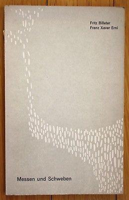 1958 Billeter Erni Gedichte Messen Schweben Vorstadtpresse Biel Erste Ausgabe