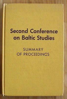 Conference Baltic Studies 1971 Baltikum