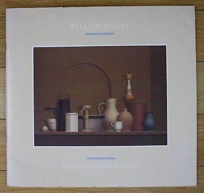 1988 William Bailey Recent Paintings Drawings Katalog catalogue John Berggruen