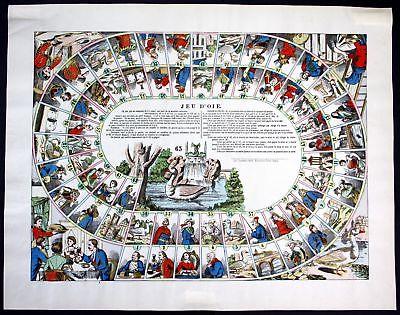 1870 Jeu de l'Oie Würfelspiel Spiel Game of Goose Gioco dell'Oca Wissembourg