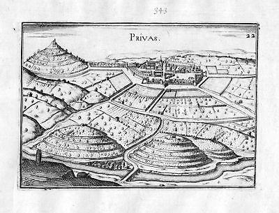 1634 Privas Auvergne-Rhone-Alpes Tassin gravure estampe Kupferstich engraving