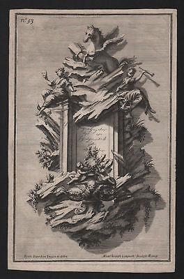1720 Rahmen frame Silber silver silversmith design baroque etching Kupferstich