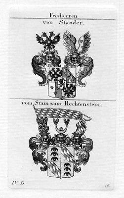Von Staader - Stain zum Rechtenstein - Wappen coat of arms Heraldik heraldry Kup