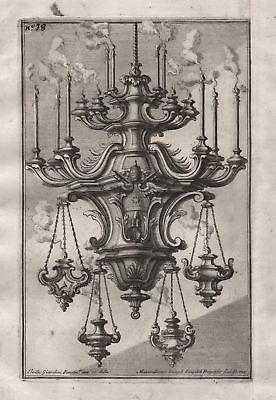 1720 chandelier Leuchter Kerzenhalter candles silver silversmith design baroque