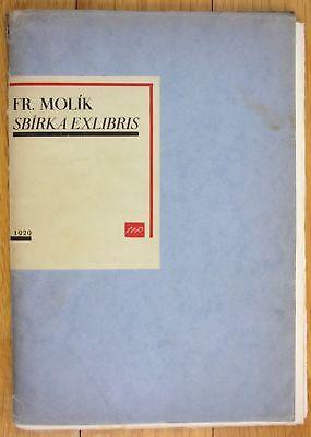 1929 Frantisek Molik Sbirka Exlibris signiert 100 Exemplare