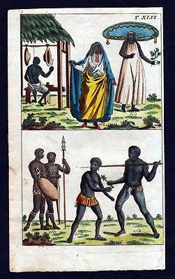 1790 Molukken Maluku Islands Tracht costume Kupferstich engraving antique print