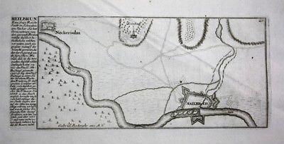 Heilbronn am Neckar / Plan Karte - Kupferstich Bodenehr Bodenehr, Gabriel: