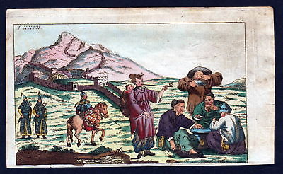 Ca. 1790 China Asia Asien Tracht costume Kupferstich engraving antique print