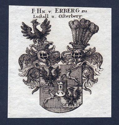 Erberg Lustall Osterberg Wappen Adel coat of arms Heraldik Kupferstich engraving