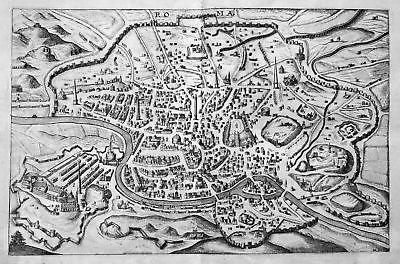 1632 Roma Rome Ansicht view veduta incisione Kupferstich antique print Hulsius