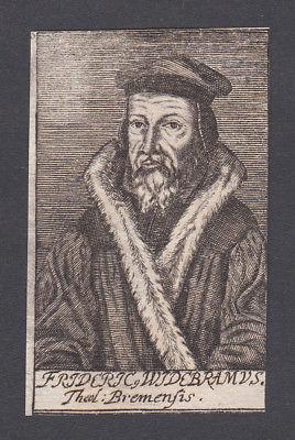 Friedrich Widebrand / theologian Theologe Bremen Portrait Kupferstich