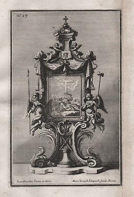 Rahmen frame angel Engel Silber silver design baroque silversmith Kupferstich