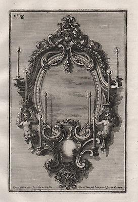 Kerzen chandelier candles Leuchter silver silversmith design baroque Kupferstich