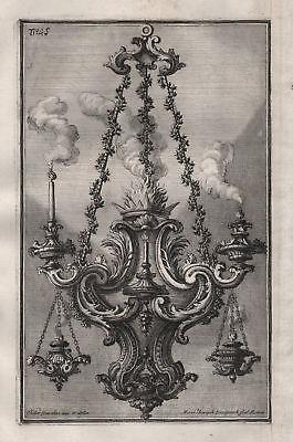 1720 Kronleuchter candles chandelier Leuchter silver silversmith design baroque