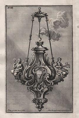 1720 chandelier candles Leuchter Kronleuchter silver silversmith design baroque