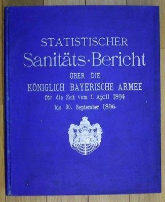 Sanitäts-Bericht über die Königlich Bayerische Armee für die Zeit vom 1. April 1