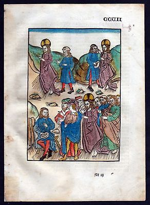 1499 Blatt CCVII Inkunabel Vita Christi Zwolle Holzschnitt woodcut incunable