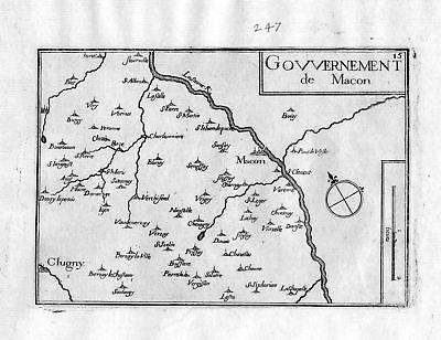 Ca. 1630 Macon Saone-et-Loire Burgund Bourgogne Frankreich France gravure Tassin
