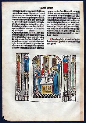 1499 Blatt XXXVII Inkunabel Vita Christi Zwolle Holzschnitt woodcut incunable