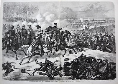 1871 Prinz Friedrich Karl von Preußen Schlacht Orleans Holzstich gravure