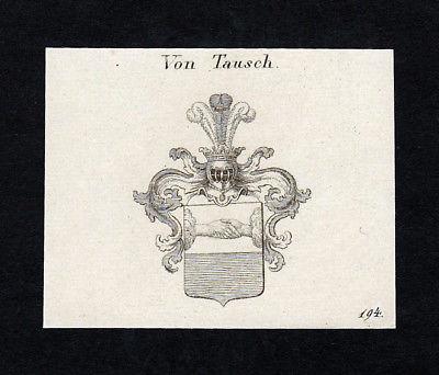 1820 Tausch Italien Wappen Adel coat of arms Heraldik Kupferstich engraving