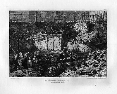Ca. 1870 Gaston Coindre Besancon eau forte gravure etching Radierung